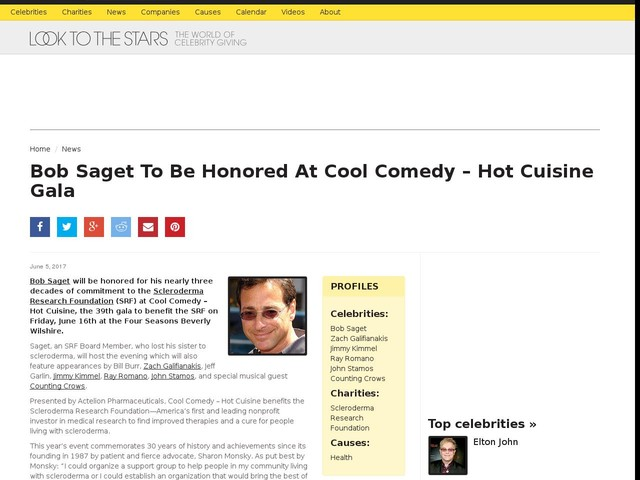 Bob Saget To Be Honored At Cool Comedy – Hot Cuisine Gala