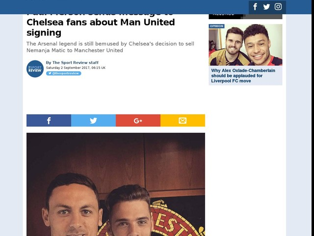 Paul Merson sends message to Chelsea fans about Man United signing