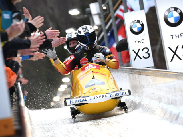 Friedrich wins record sixth straight two-man title at IBSF World Championships