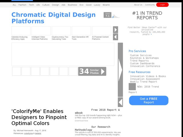 Chromatic Digital Design Platforms - 'ColorifyMe' Enables Designers to Pinpoint Optimal Colors (TrendHunter.com)
