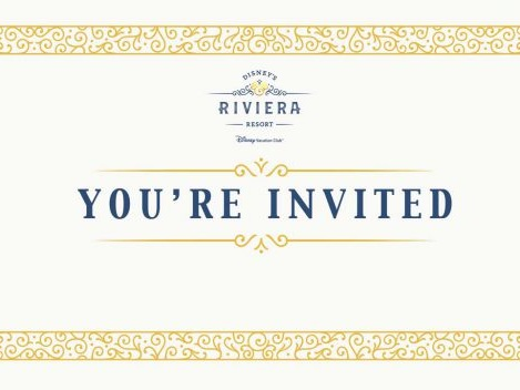 You are Cordially Invited to the Livestream of Disney's Riviera Resort Grand Opening!