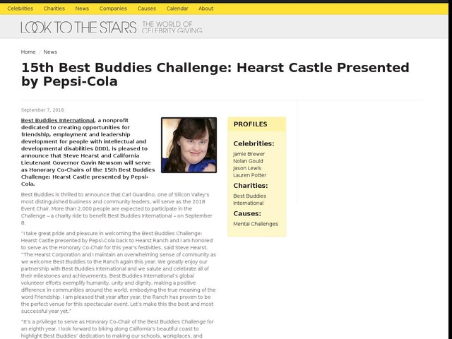 15th Best Buddies Challenge: Hearst Castle Presented by Pepsi-Cola