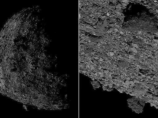 Asteroid Bennu up close: NASA's Osiris-REx snaps detailed images of the oddly-shaped object
