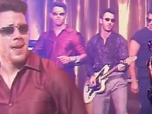 Jonas Brothers get funky in the retro 80s-inspired music video for Only Human