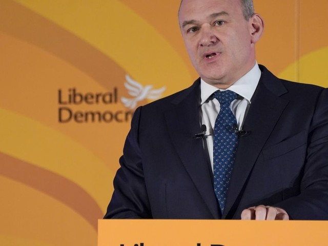 """Ed Davey Vows To """"Bring Down"""" Tory Blue Wall In Party Conference Speech"""