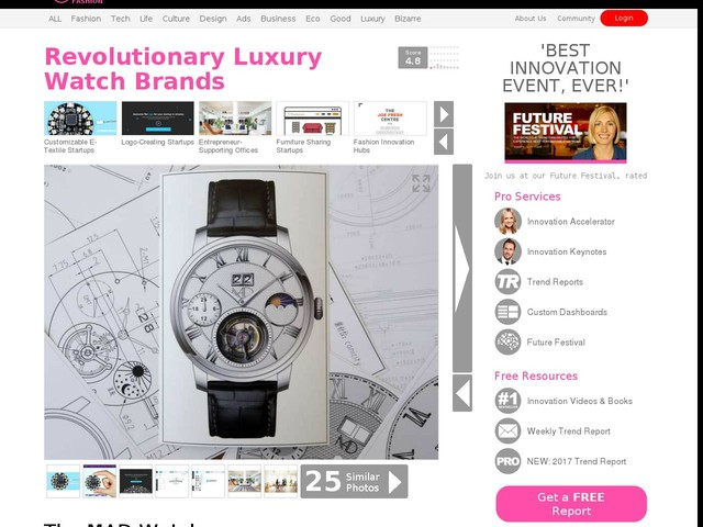Revolutionary Luxury Watch Brands - The MAD Watches Startup Makes Opulent Watches Affordable (TrendHunter.com)