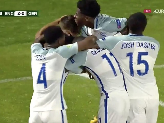 England U19 4-1 Germany U19: Young Lions reach Euro 2017 semi-finals and knock out Germans