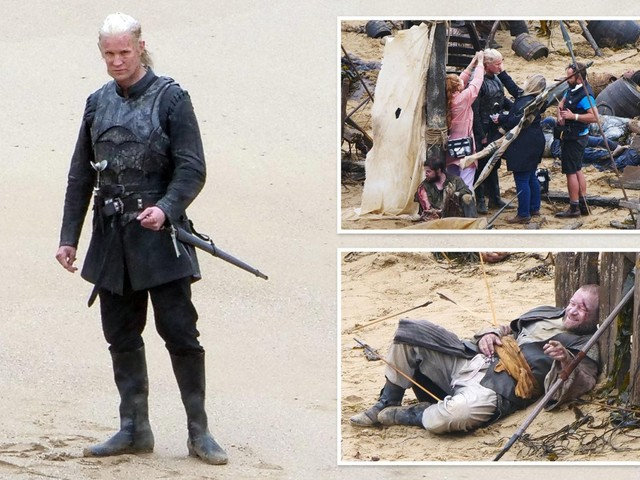 Matt Smith shows off peroxide blonde hair filming Game of Thrones prequel House of the Dragon