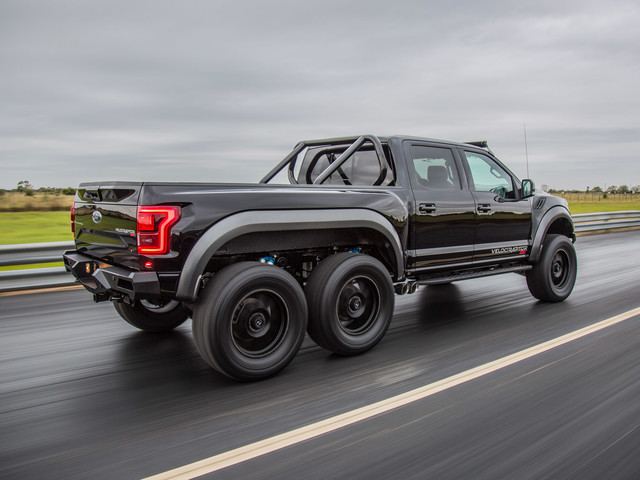 Watch the $349,000 Hennessey VelociRaptor 6X6 Go Out for a Spin