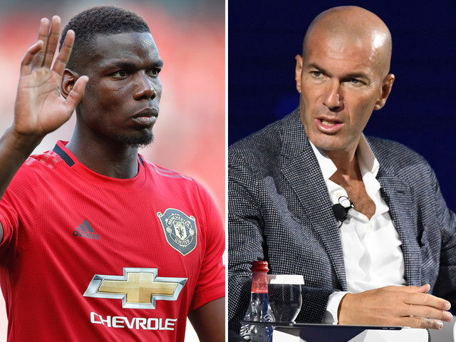 Paul Pogba spotted with Zinedine Zidane in Dubai as Man Utd face battle to keep Real Madrid transfer target