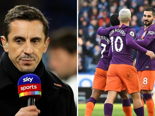 Gary Neville 'angry' with Man City over performance vs Huddersfield