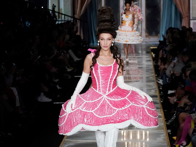 Moschino harks back to the age of Marie Antoinette for its Milan Fashion Week show