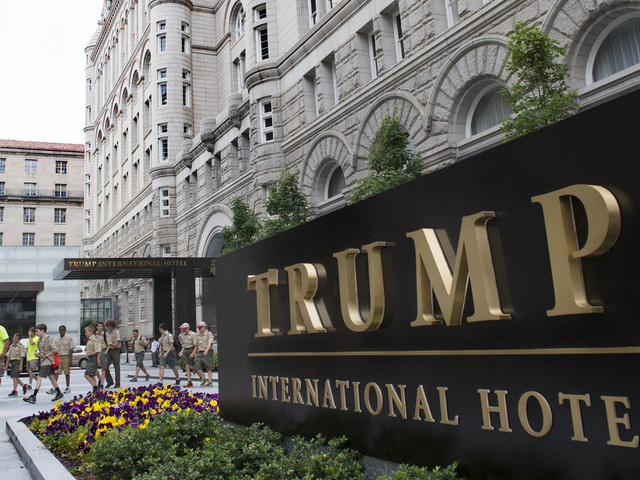 Trump Holds Trump Fundraiser At Trump Hotel For Trump Reelection
