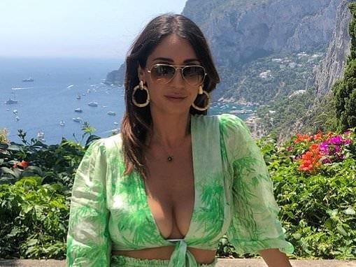MKR starSonya Mefaddi shows off her extreme cleavage in mini dress
