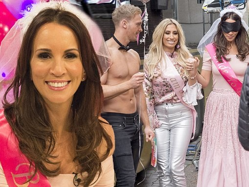 Andrea McLean celebrates hen do on Loose Women with hunk