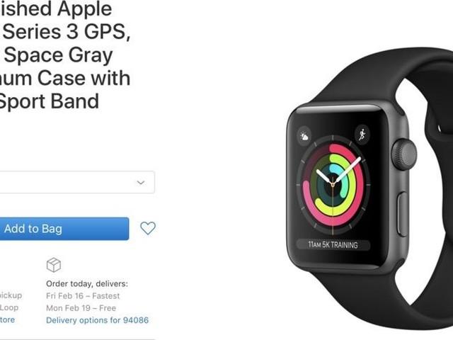 Apple Now Selling Refurbished Apple Watch Series 3 Models