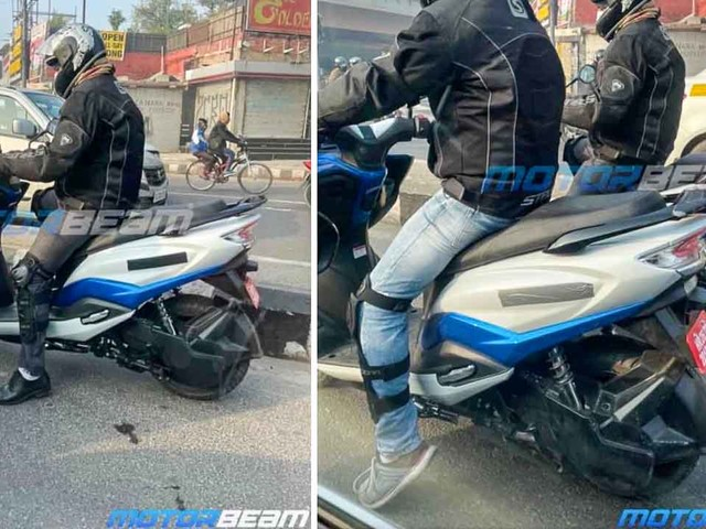 Suzuki Burgman Electric Scooter Spied Up Close – Chetak, Ather Rival
