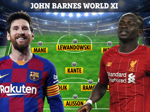 Lionel Messi and Sadio Mane are in but Cristiano Ronaldo is OUT of John Barnes' controversial world best XI