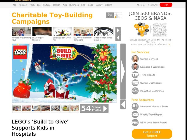 Charitable Toy-Building Campaigns - LEGO's 'Build to Give' Supports Kids in Hospitals (TrendHunter.com)