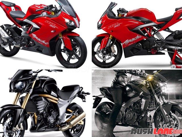 TVS Apache 310 vs Bajaj Dominar 400 vs Mahindra Mojo – Price, Mileage, Top Speed, Features, etc
