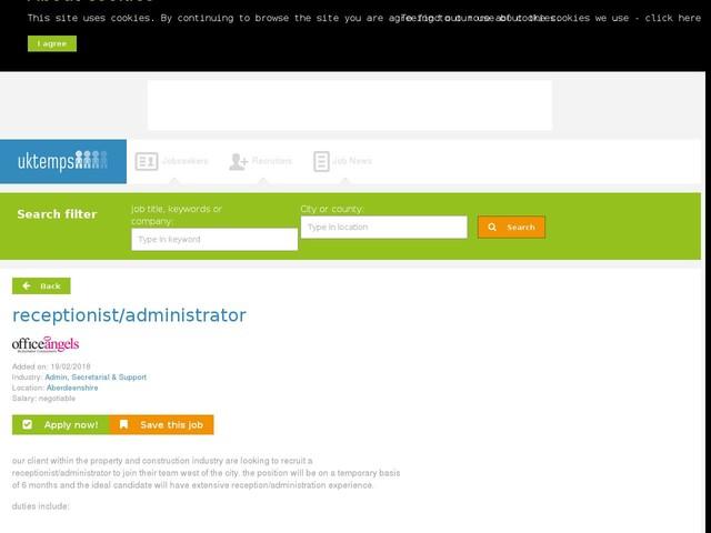 receptionist/administrator