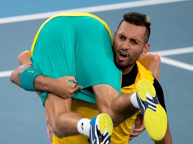 Nick Kyrgios says he'll drink red wine after knocking Britain out of the ATP Cup, and it's not the first time he's gone boozing during a tournament