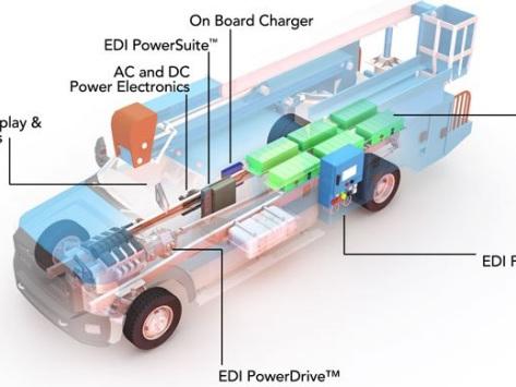 Efficient Drivetrains announces availability of EDI PowerDrive 6000ev electric drivetrain for medium-duty vehicles