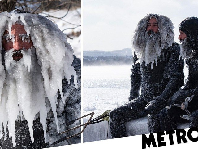 Photos show what happens if you go surfing during a polar vortex