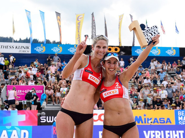 Canadian duo beat defending champions to FIVB Gstaad Major title