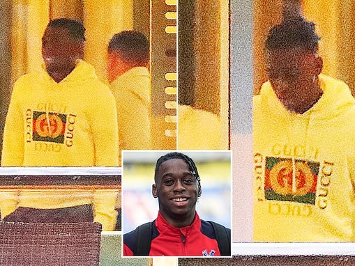 Aaron Wan-Bissaka arrives at Lowry Hotel for Manchester United medical
