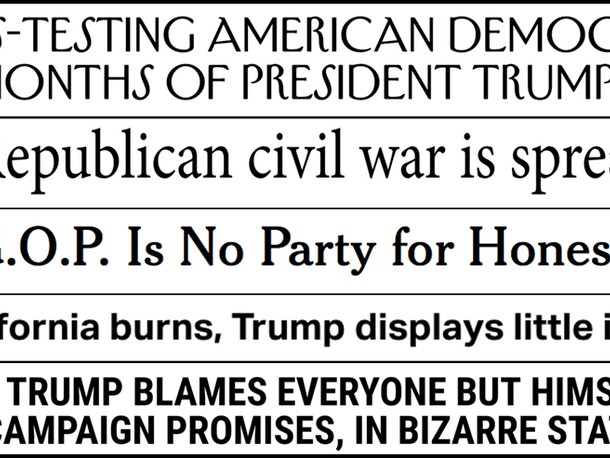 Abbreviated pundit roundup: The president blames everyone but himself for his failures