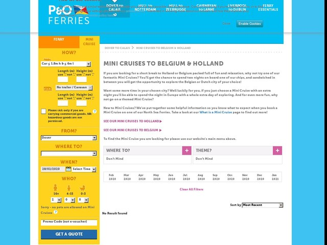 Minicruise to Belgium and Holland | P&O Ferries - UK