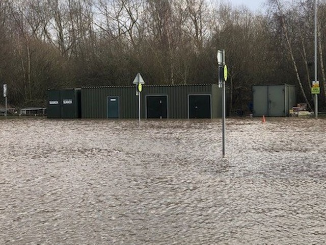 'Worst flooding in a decade' means Queen's Drive park and ride remains shut