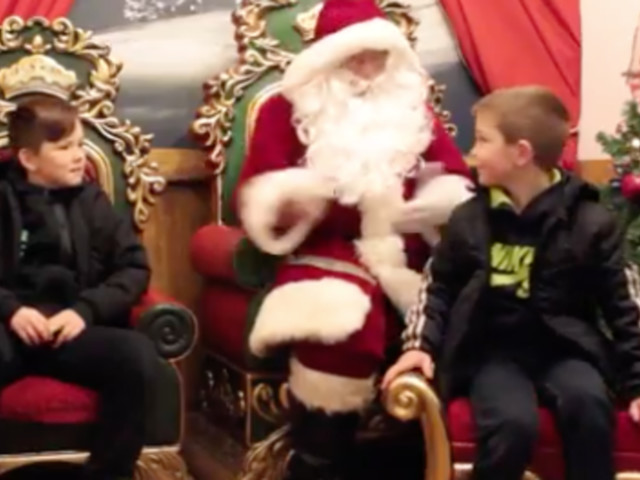 Magical Moment Boys Are Reunited With Military Dad After Making A Wish To Santa