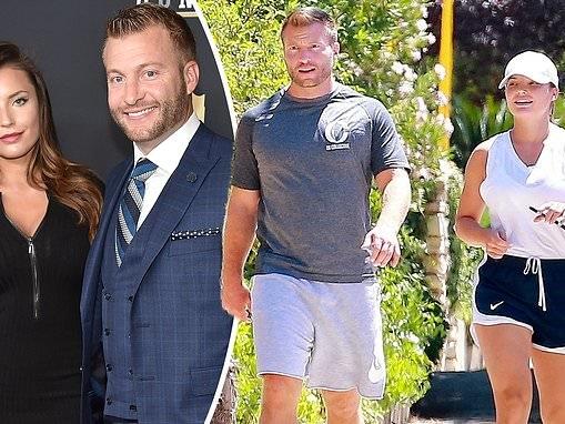 LA Rams head coach Sean McVay and fiancee Veronika Khomyn make use of quarantine time and go on jog