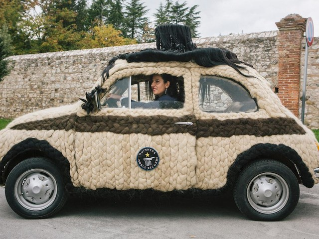 Owner converts retro Fiat 500 into moving hair masterpiece