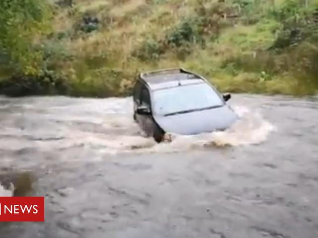 Storm Bronagh: Flood warnings follow wind and rain