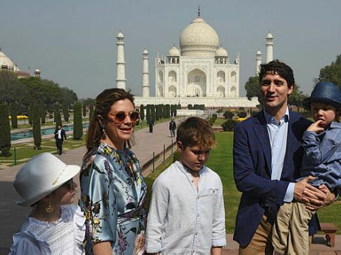 Canada's Trudeau begins India trip with Taj Mahal visit