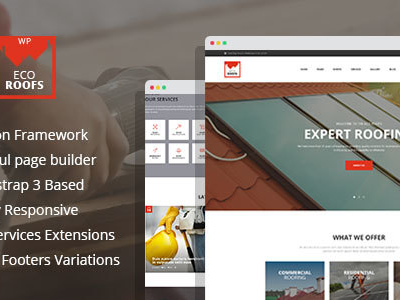 Eco Roofs - Roofing Renovation WordPress Theme (Business)