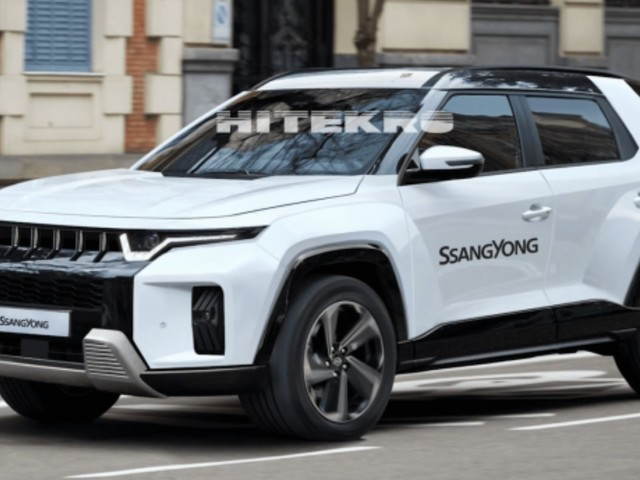 Mahindra's SsangYong J100 Electric SUV Rendered In Production Form