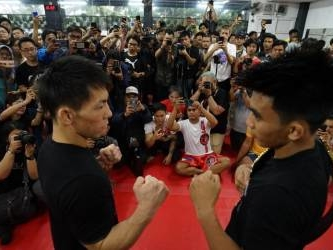 (Video) Joshua Pacio and Yosuke Saruta meet at one: Eternal glory open workout & face-off