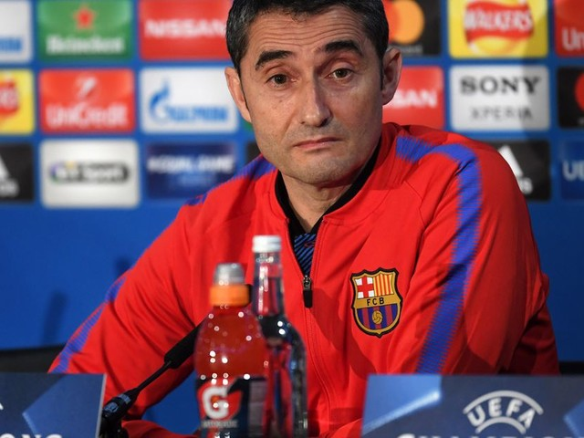 Barcelona head coach Valverde wary of the challenge posed by Conte's tactics