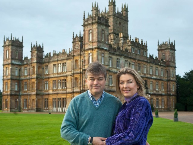 Downton Abbey's real-life house is swarming with GHOSTS, owner Lady Fiona tells Virgin Radio's Chris Evans
