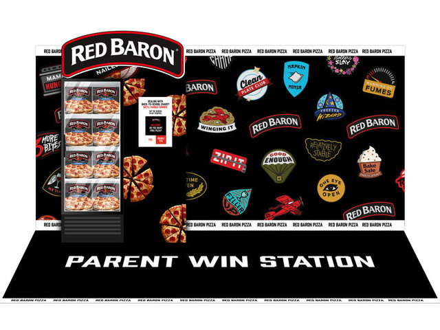 Parent-Targeted Pizza Freezers - Red Baron's 'Parent Win Stations' Share Family-Sized Frozen Pizzas (TrendHunter.com)