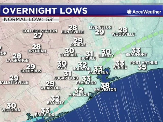 One Minute Weather: Snow flurries spotted across southeast Texas