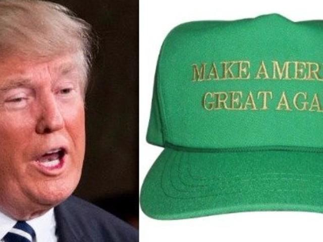 Twitter Noticed An Error On The New Green Trump Hats