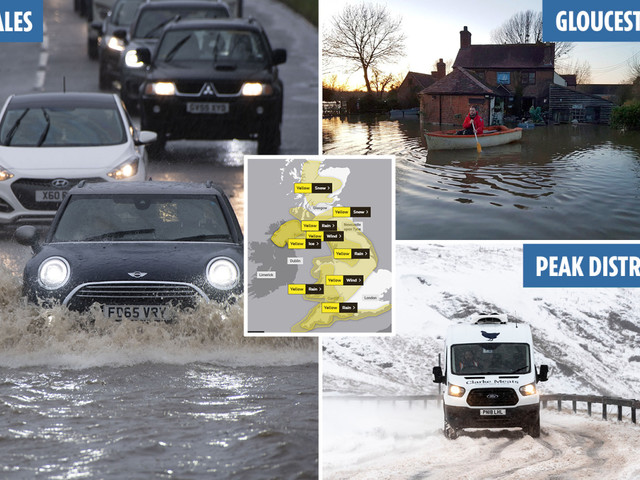 UK weather forecast – Snow and 70mph Storm Jorge to lash Britain as FOUR DAYS of warnings issued