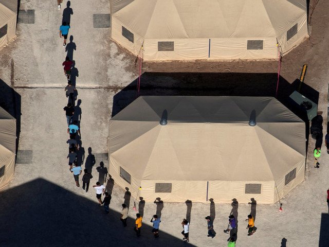 Hundreds of Migrant Children Quietly Moved to a Tent Camp on the Texas Border