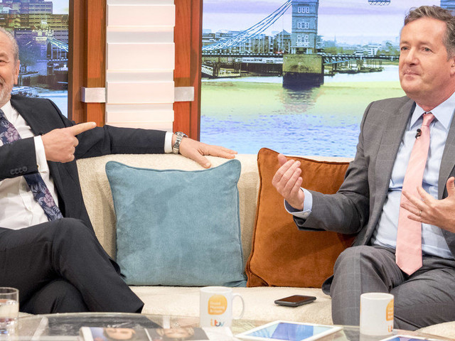 Piers Morgan Concedes Defeats To Lord Sugar, As 'The Apprentice' Star Wins 'Good Morning Britain' Weight Loss Bet