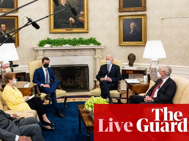 Biden says he's willing 'to compromise' with Republicans on infrastructure bill – live